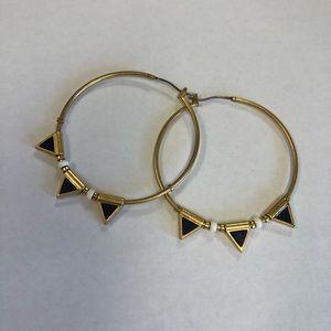 MADEWELL Lapis Flagpoint hoop earrings.